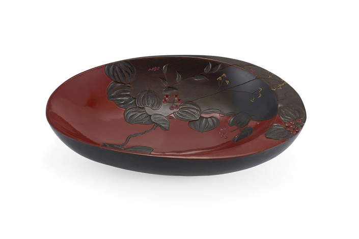 川添日記 草木彫の鉢