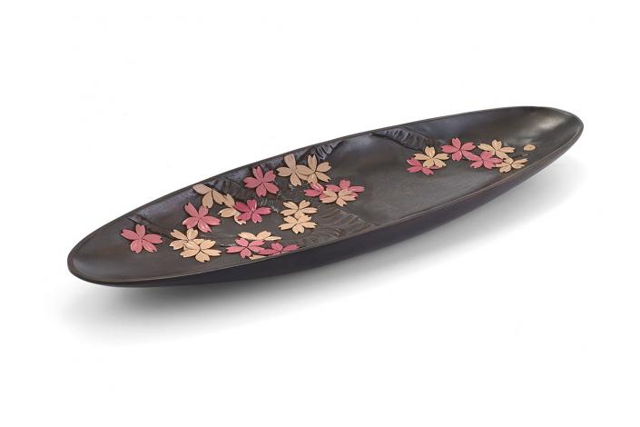 川添日記 草木彫のお皿