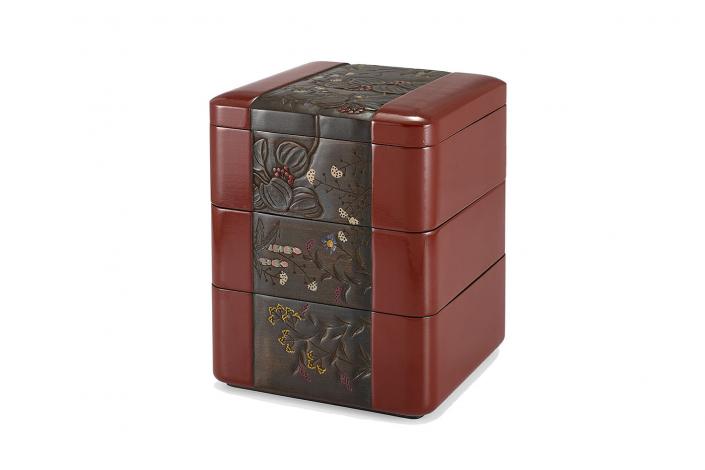 川添日記 草木彫の重箱