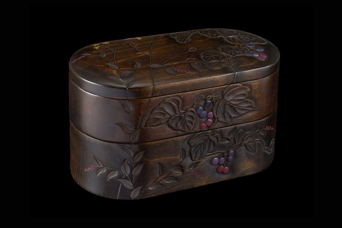 川添日記 草木彫の弁当箱