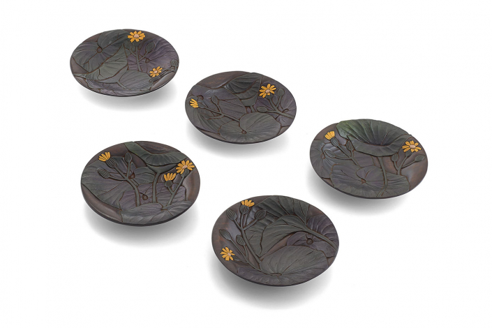 川添日記 草木彫の茶托